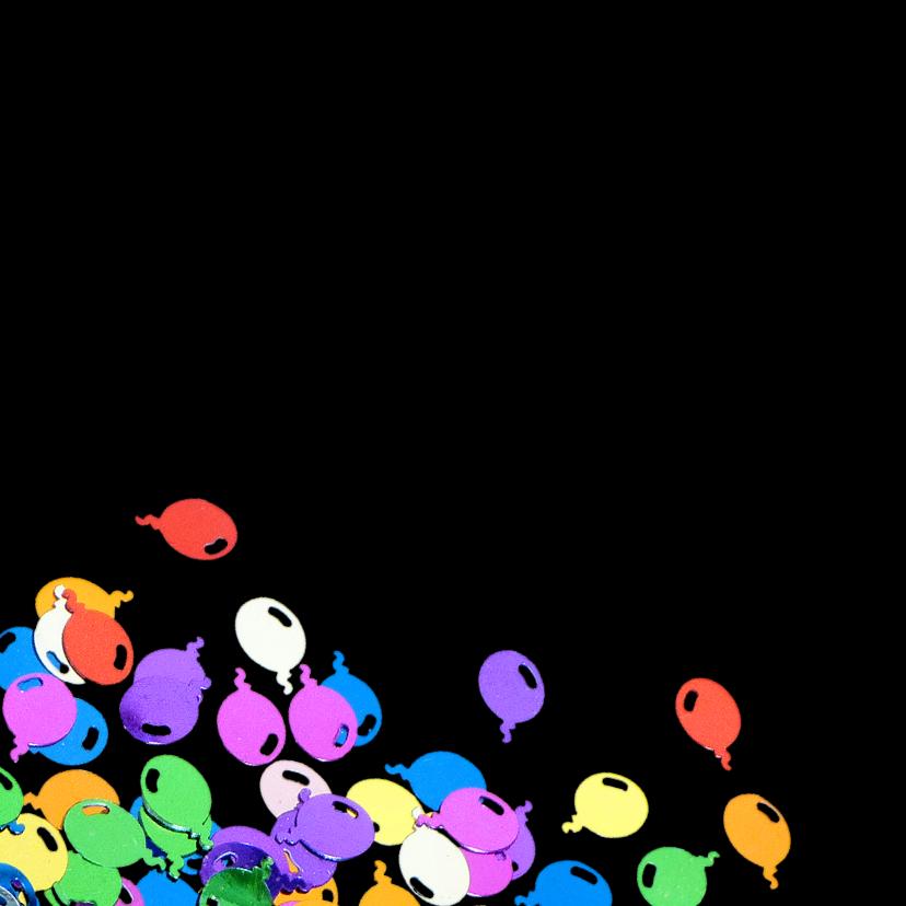 Uinodiging ballon confetti 2