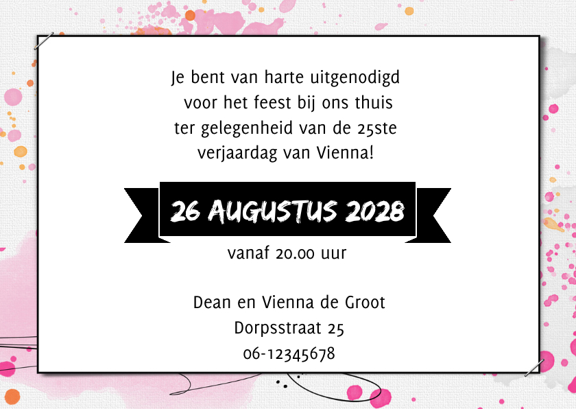 Uitnodiging 25 jaar aquarel 3
