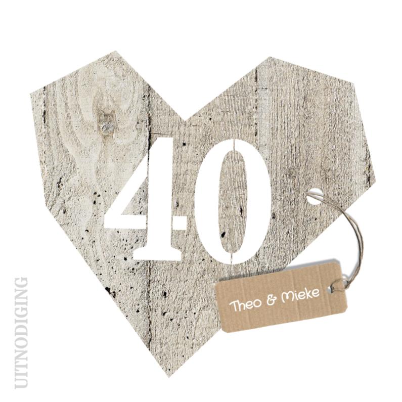 kaarten 40 jarig huwelijk Uitnodiging 40 jarig huwelijk   Jubileumkaarten   Kaartje2go kaarten 40 jarig huwelijk