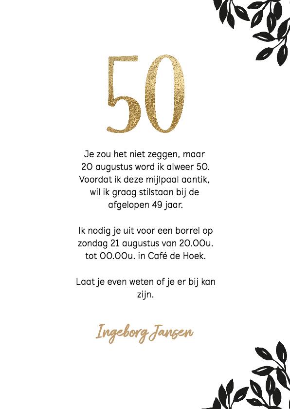 Uitnodiging 50 jaar wijnglas Cheers 3