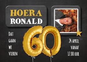 Uitnodigingen - Uitnodiging 60 jaar Ballon - SG