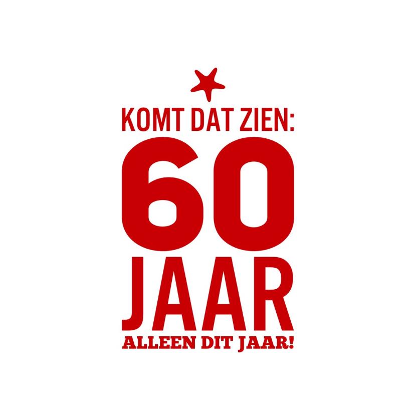 Super Verjaardag 60 Jaar Man ZB73 | Belbin.Info @FG03