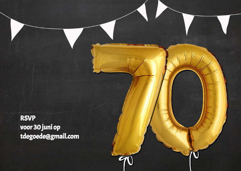 Uitnodiging 70 jaar Ballon - SG 2