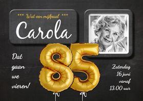Uitnodigingen - Uitnodiging 85 jaar ballon - SG