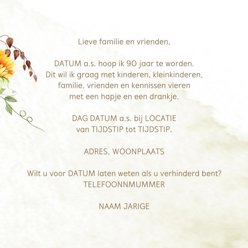 Uitnodiging 90 jaar zonnebloemen 3