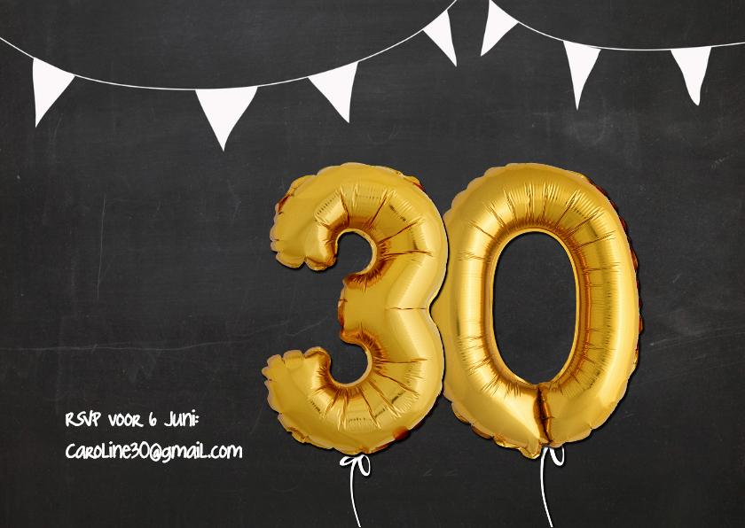 Uitnodiging Ballon 30 - SG 2