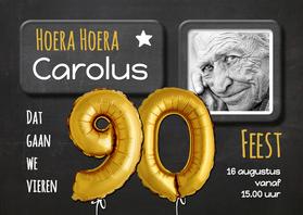 Uitnodigingen - Uitnodiging Ballon 90 - SG