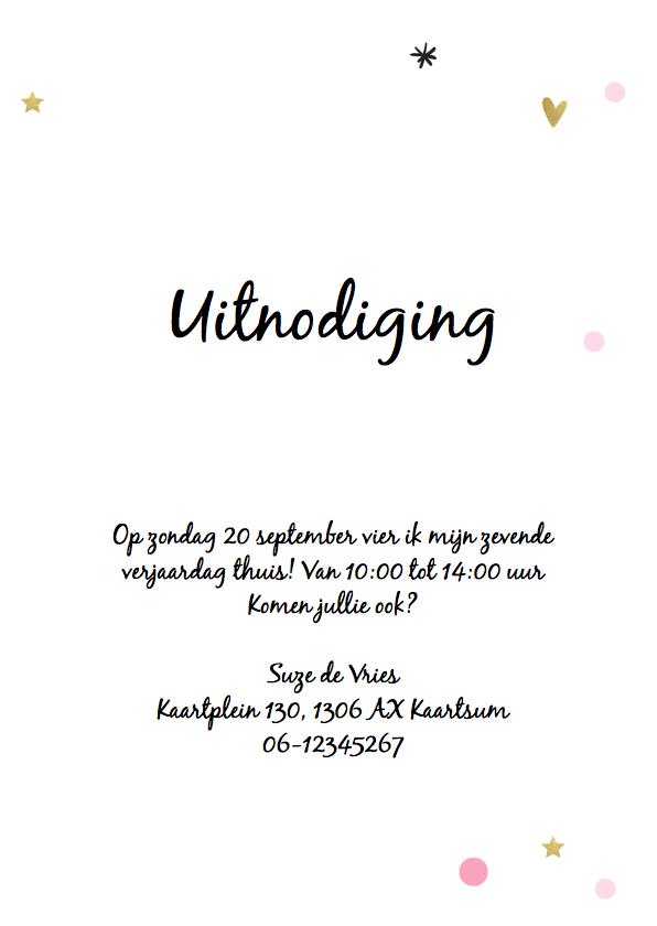Uitnodiging ballon meisje - jarig 3