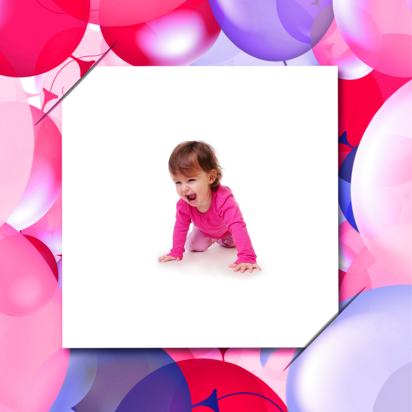 Uitnodiging ballonnen 4xfoto RB 2