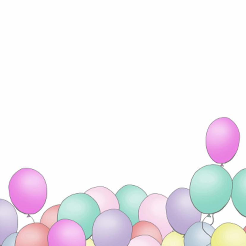 Uitnodiging ballonnen basic square 2