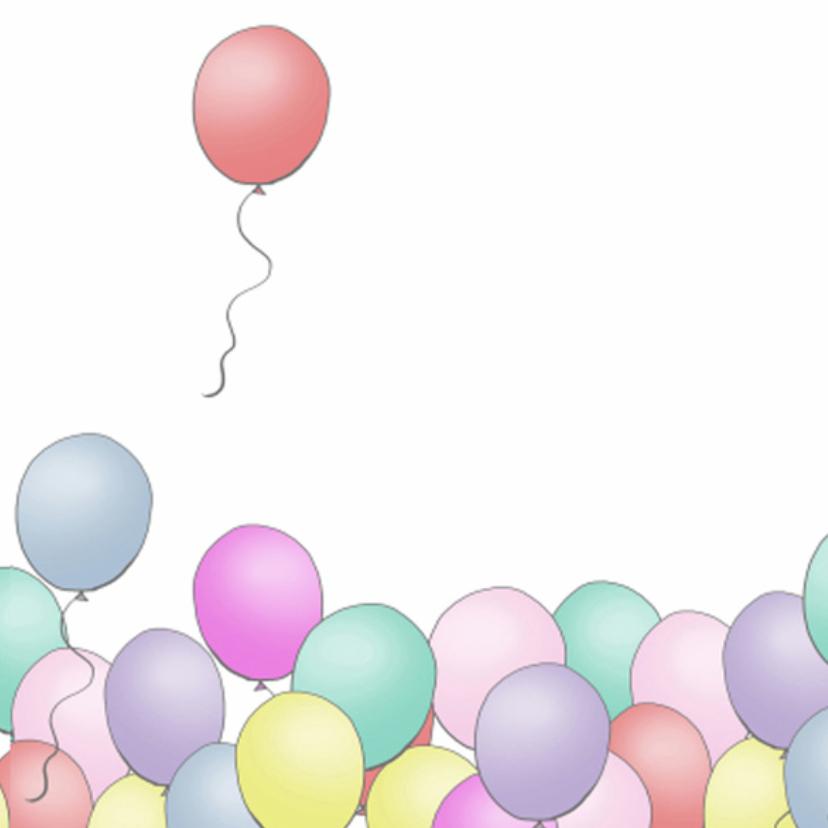 Uitnodiging ballonnen basic square 3