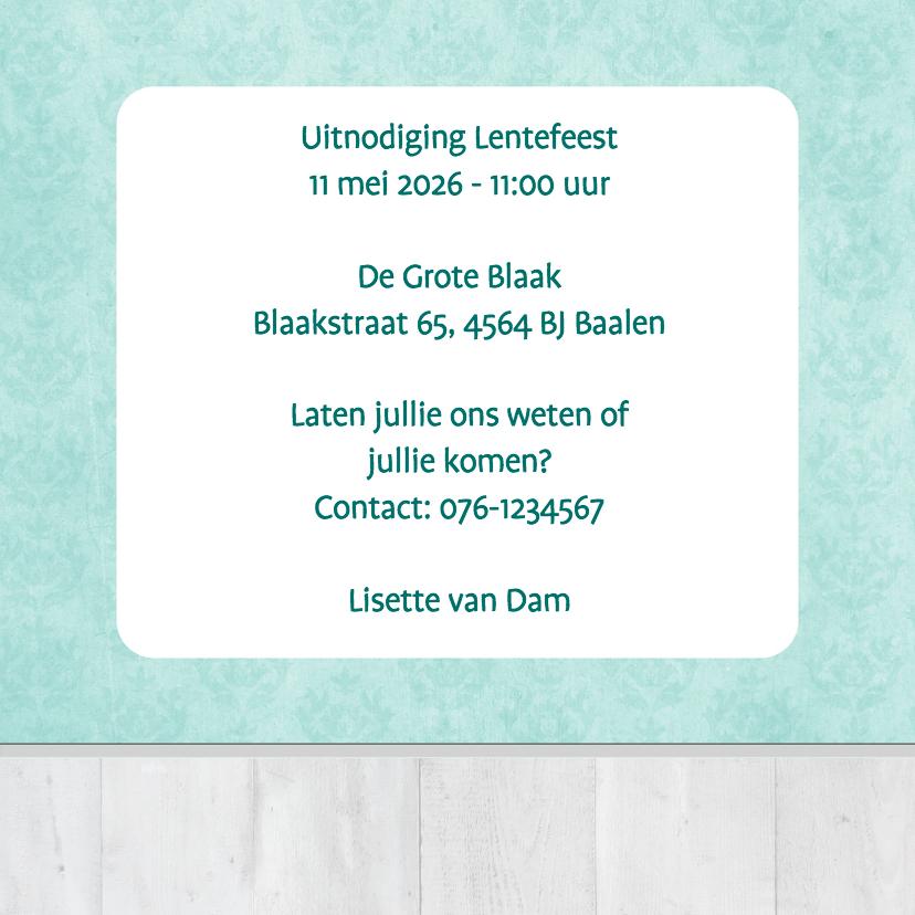 Uitnodiging barok groen - BK 3