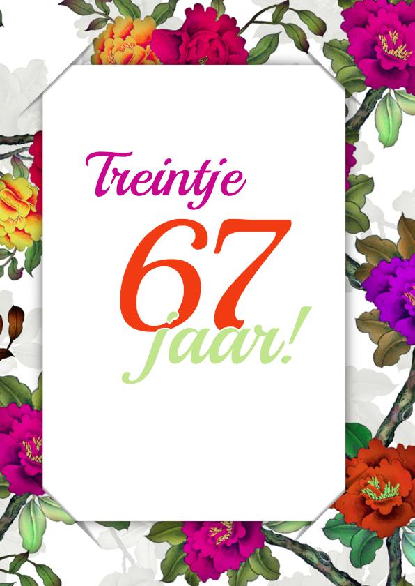 Uitnodiging bloemen en foto 3 RB 2