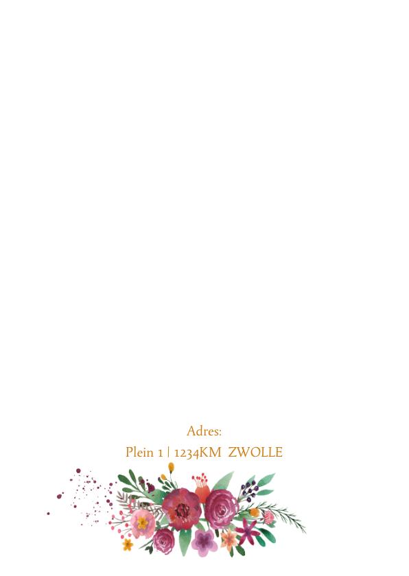 Uitnodiging bloemen waterverf  2
