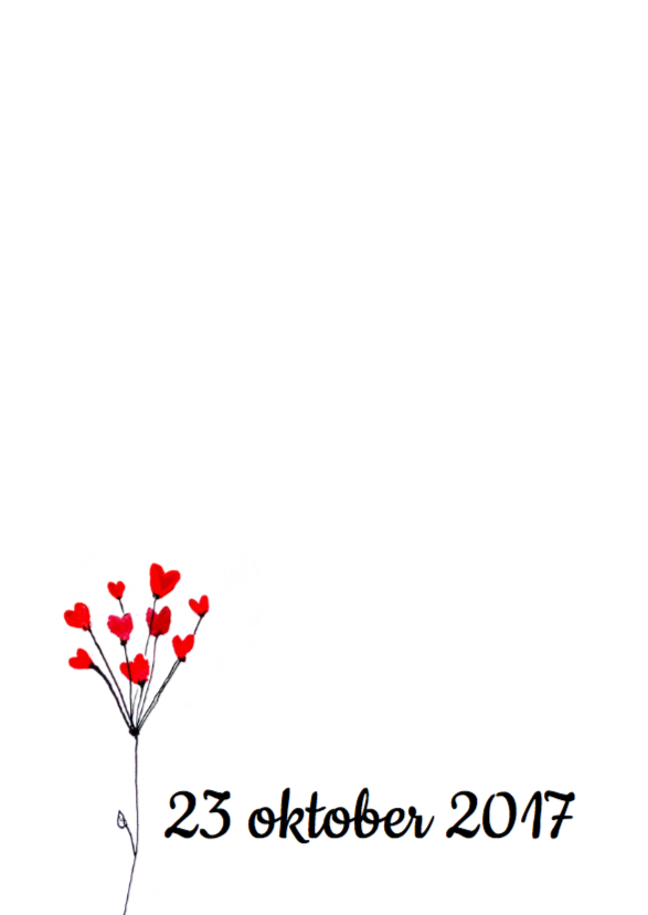 Uitnodiging bruiloft bloem 2