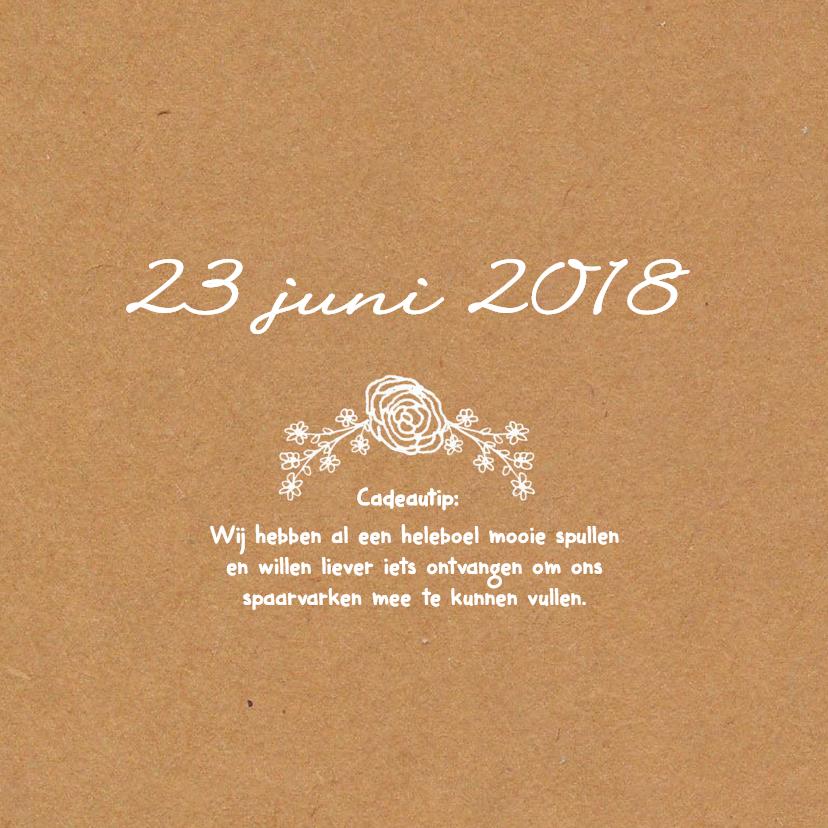 Uitnodiging Bruiloft kraftpapier 2 2