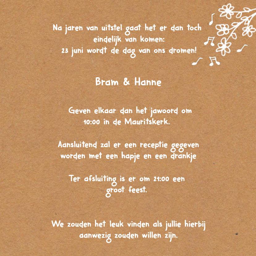 Uitnodiging Bruiloft kraftpapier 2 3