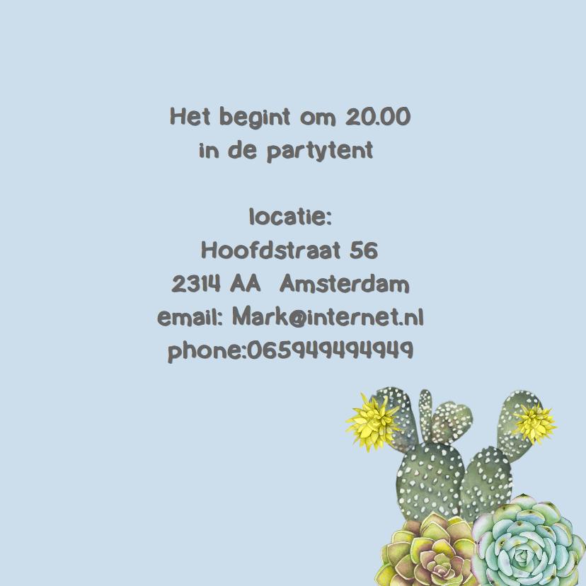 Uitnodiging cactus man 3