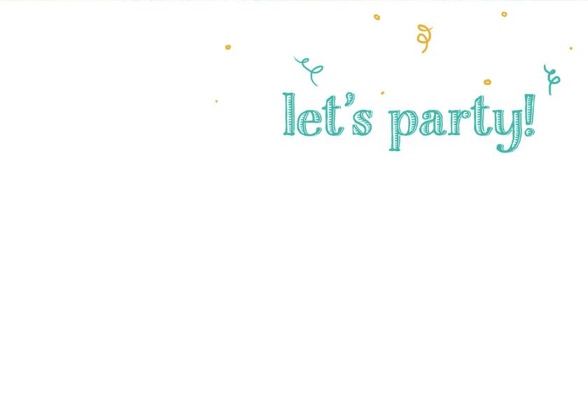 Uitnodiging celebrate good times aquarel 3