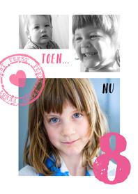 Kinderfeestjes - Uitnodiging Collage Nu ben ik al