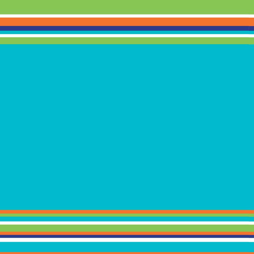 Uitnodiging Communie strepen blauw 2