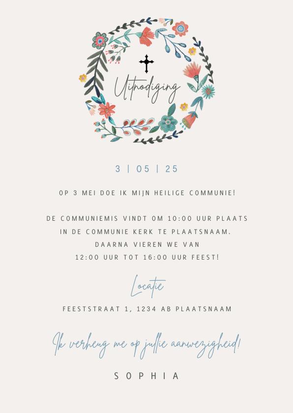 Uitnodiging Communie Vintage 3