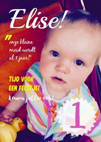 Kinderfeestjes - Uitnodiging Cover Elise