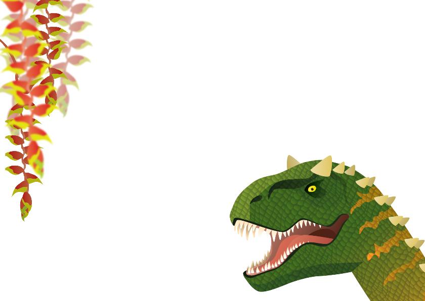 uitnodiging  dinosaurus jongen foto 2