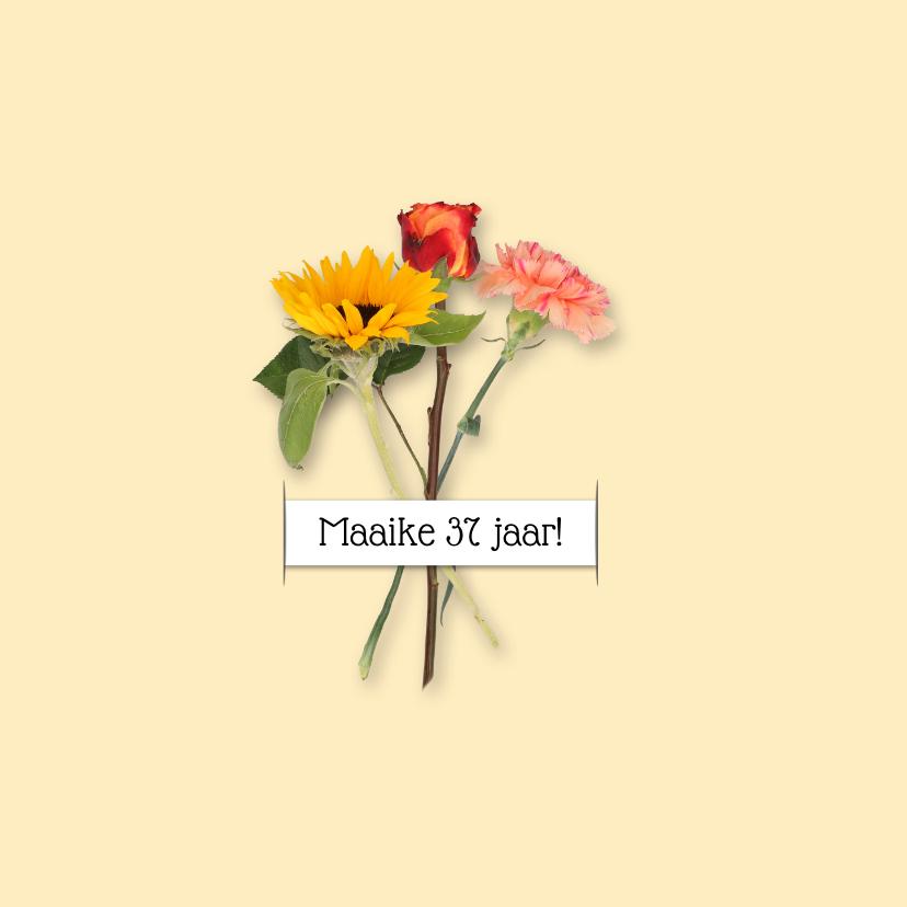 Uitnodiging feest bloemen RB 2