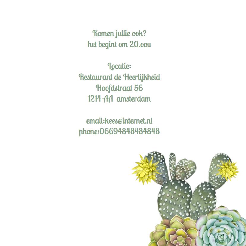 Uitnodiging feest cactus 3