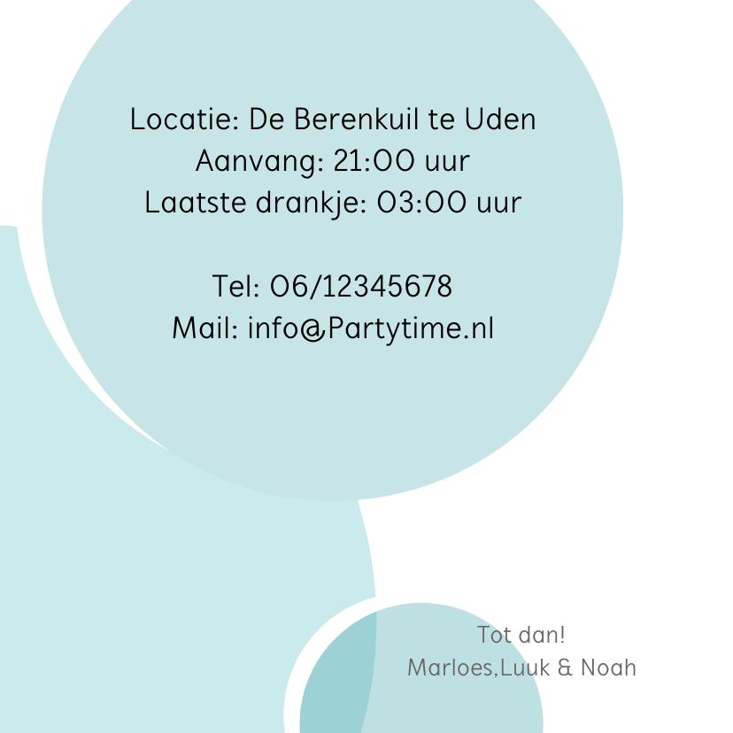 Uitnodiging feest label en foto 3