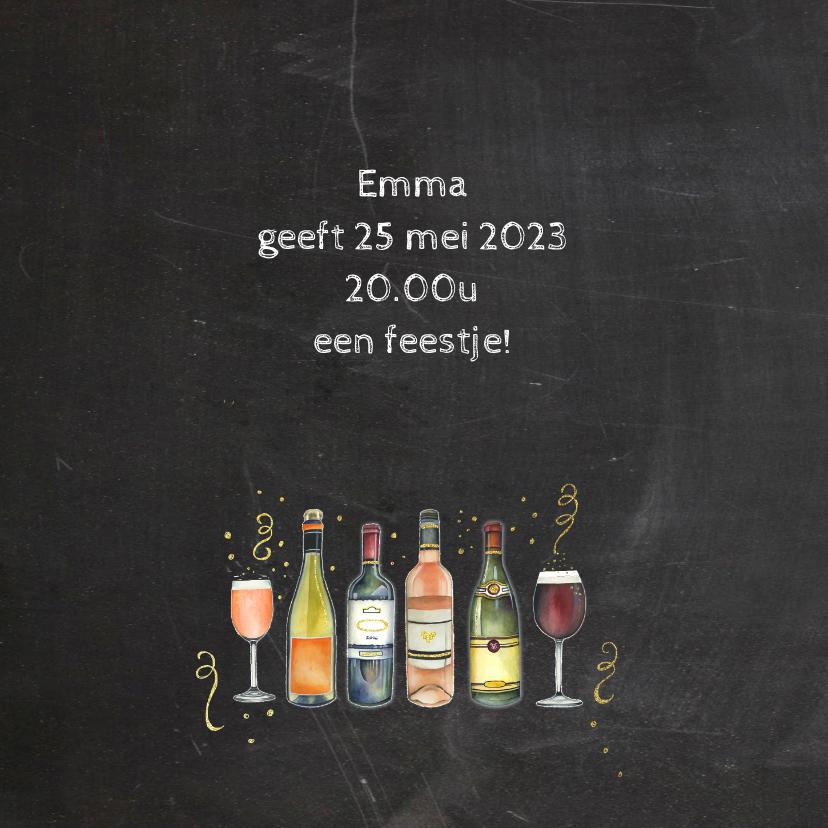 Uitnodiging feest wijn 2
