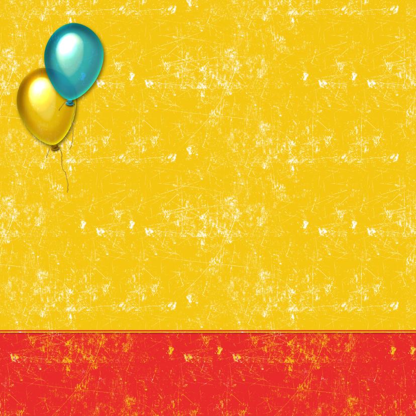 Uitnodiging feestje ballon 2