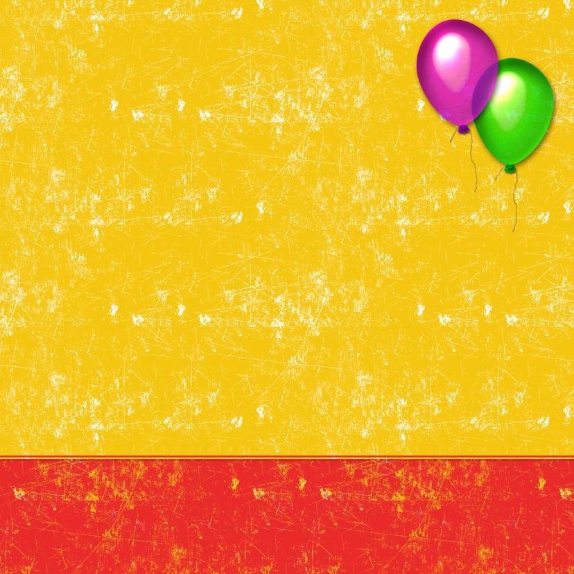 Uitnodiging feestje ballon 3