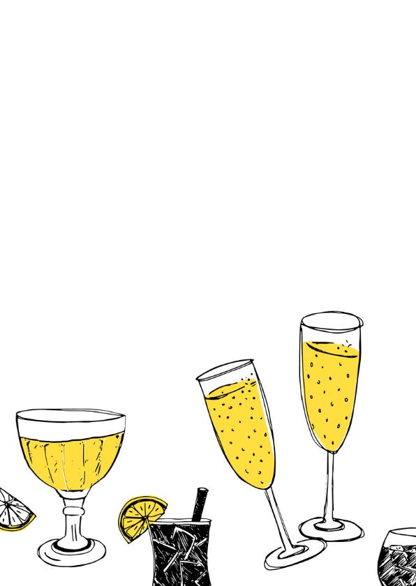 Uitnodiging feestje met drankjes 2
