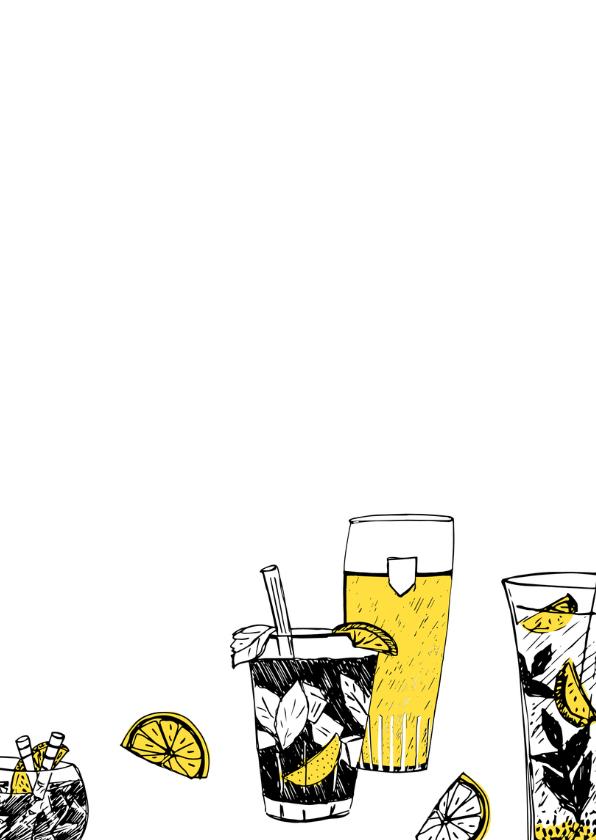 Uitnodiging feestje met drankjes 3