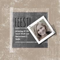 Uitnodigingen - Uitnodiging foto schoolbord-IP