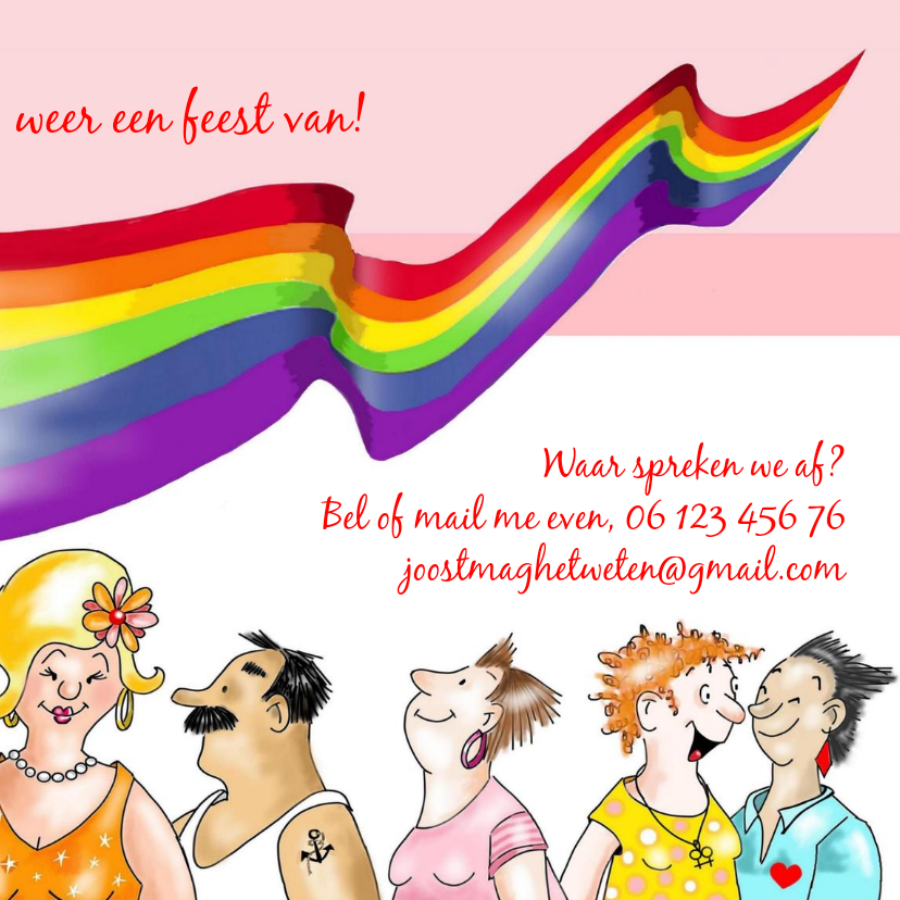 Uitnodiging Gay Pride Amsterdam 3
