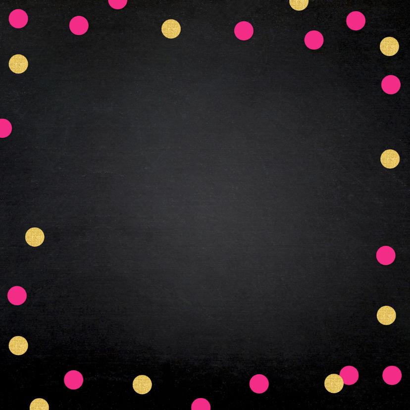 Uitnodiging geslaagd confetti foto krijtbord 2