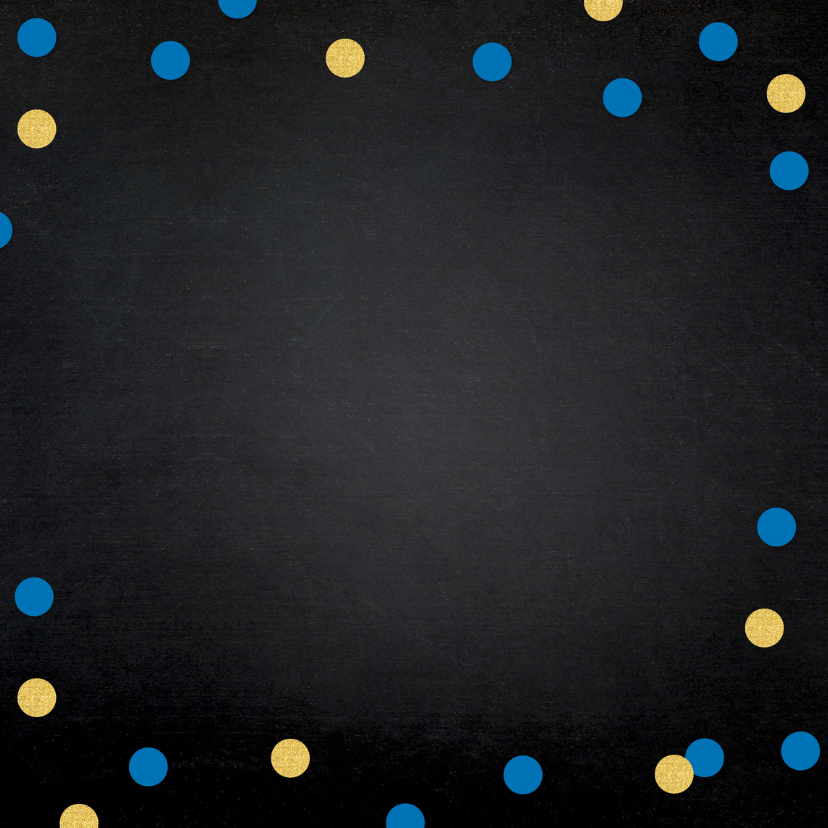 Uitnodiging geslaagd foto confetti krijtbord 2
