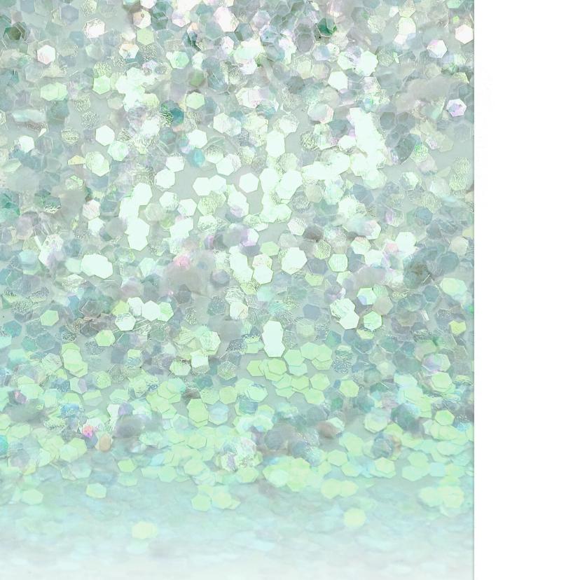 Uitnodiging glitter confetti foto blauw 2