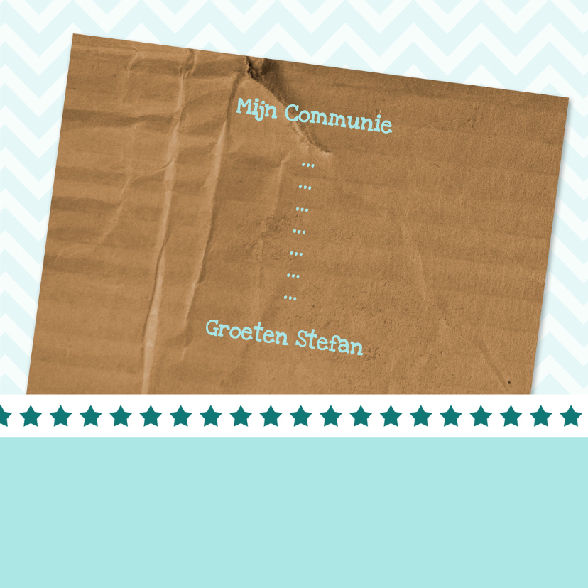 Uitnodiging groen en karton - BK 3