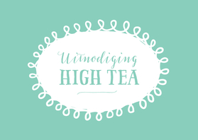 Uitnodigingen - Uitnodiging high tea mintgroen