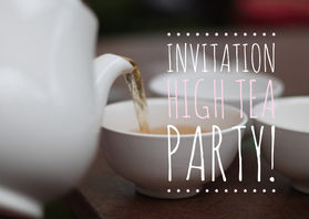 Uitnodigingen - Uitnodiging high tea party