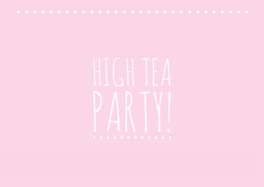Uitnodiging high tea party 2