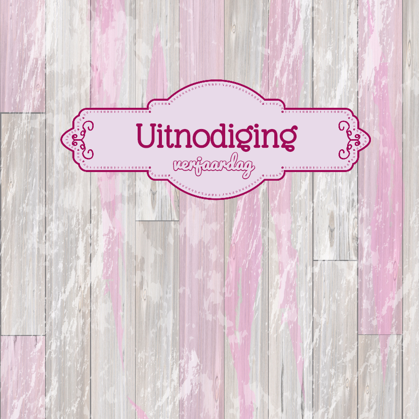 Uitnodiging Houtprint LABELS 3