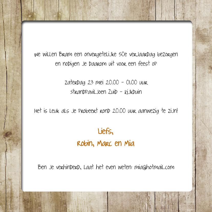 Uitnodiging houtprint - SG 3