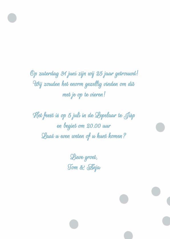 Uitnodiging huwelijk jubileum 25 jaar 3