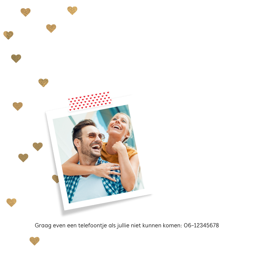 Uitnodiging huwelijk jubileum 5 jaar ballon 2
