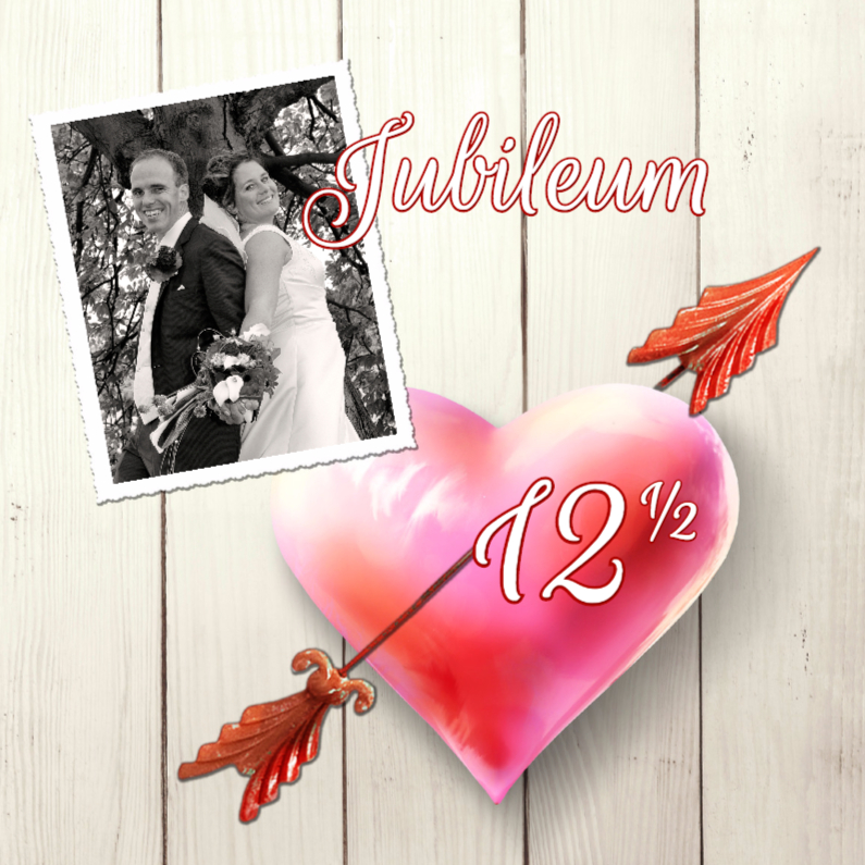 Uitnodiging huwelijksfeest hart sg jubileumkaarten
